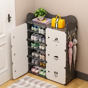 鞋架子家用简易经济型鞋子防尘多层省空间小窄放门口鞋柜收纳神器品牌
