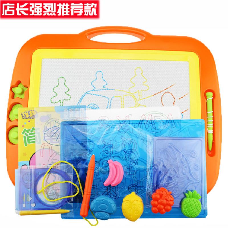 琪趣超大號彩色磁性畫畫板幼兒童早教寶寶玩具早教塗鴉繪畫寫字板