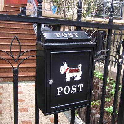 欧式别墅信箱室外防雨水邮箱挂墙带锁邮筒大号田园创意信报箱包邮