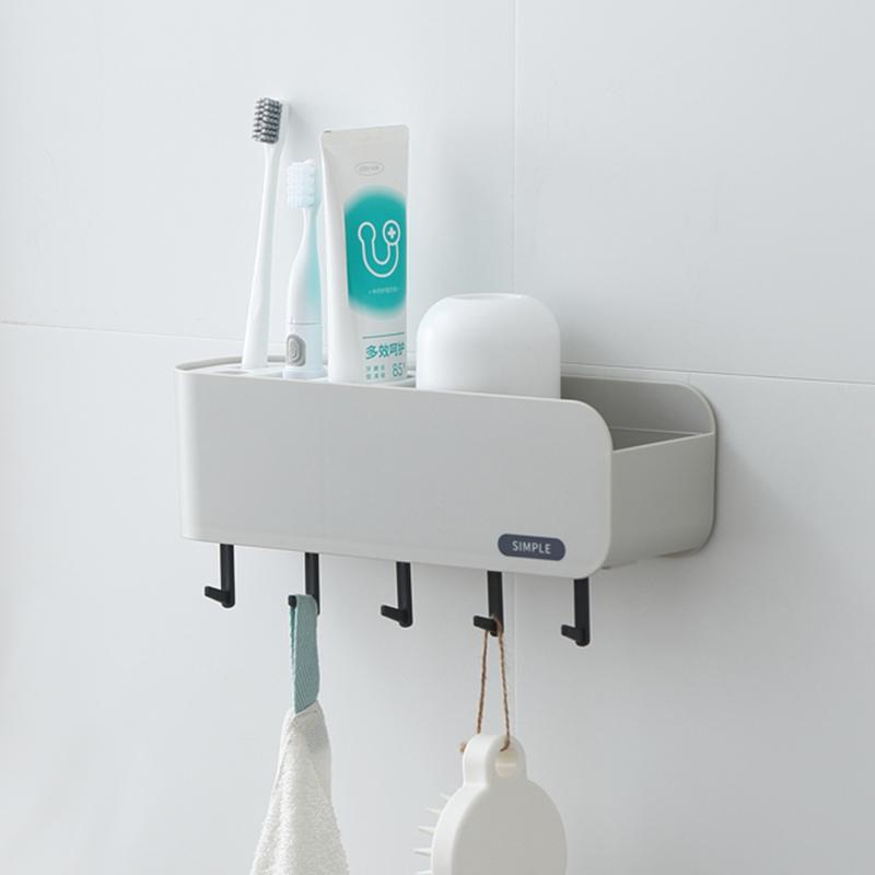 卫生间牙刷架壁挂式洗漱套装置物架10月14日最新优惠