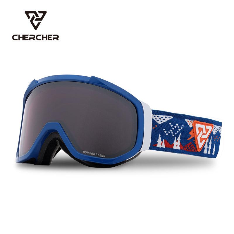 Chercher 20 new Leo childrens double cylindrical mirror anti fog anti impact ski goggles 3-12 years old