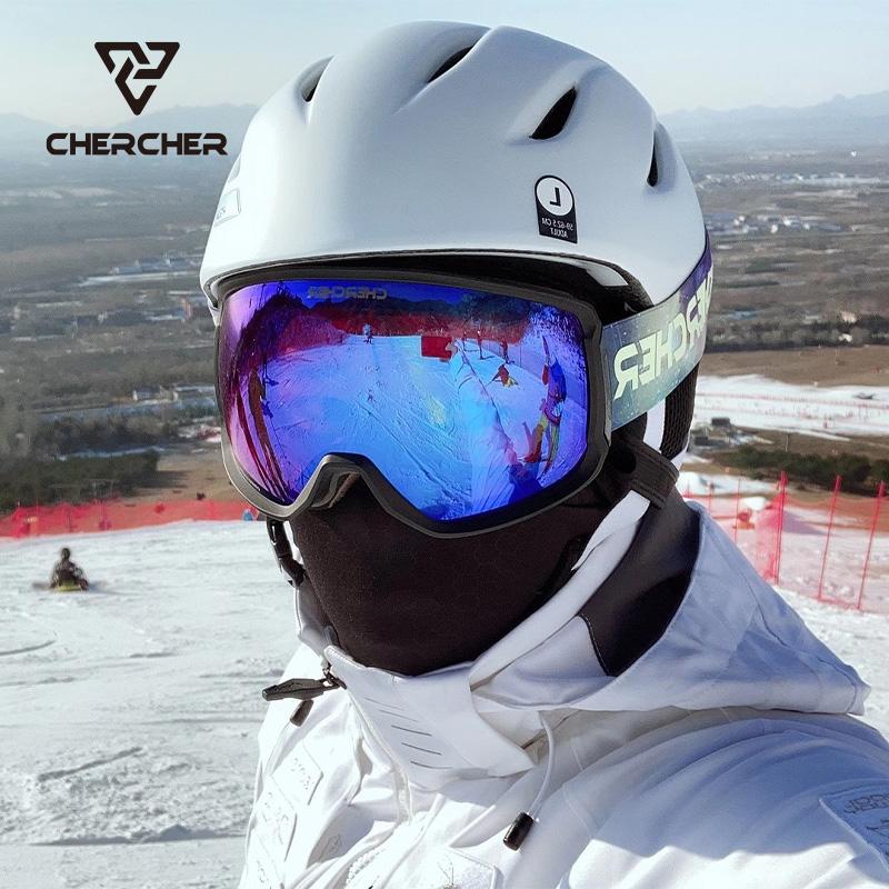Chercher ski goggles for men and women hyperboloid high definition antifogging eye goggles