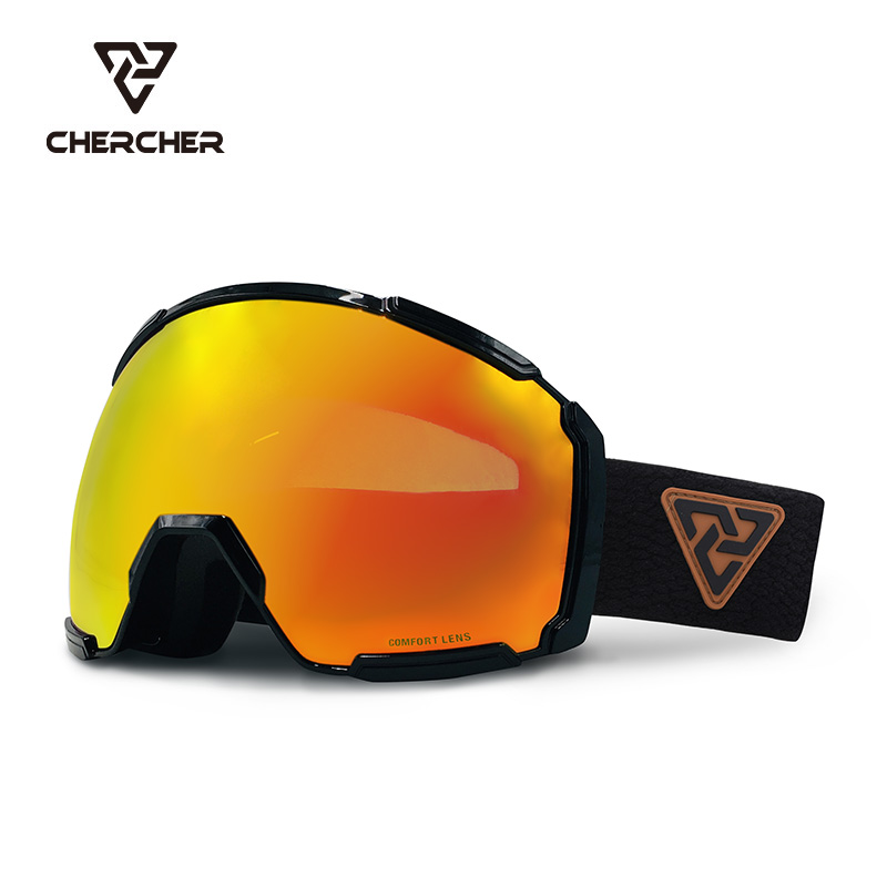 Chercher ski glasses double layer anti fog glasses adult high definition large field goggles outdoor equipment Capri