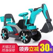 新款儿童挖掘机可坐可骑大号电动挖土机钩机男孩玩具车滑行工程车