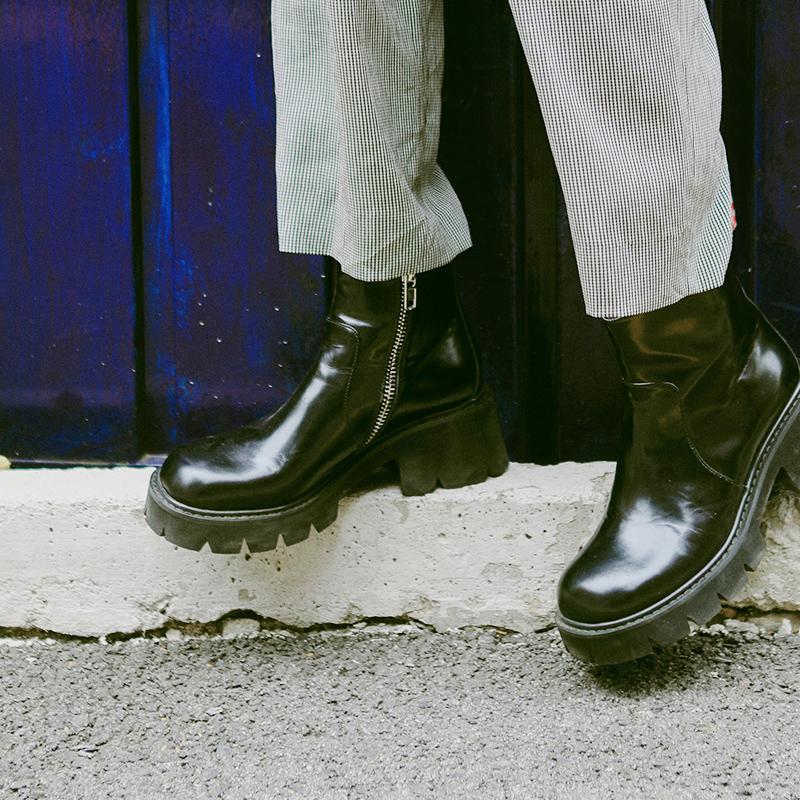 littlegood英伦风高帮马丁靴机车靴(非品牌)