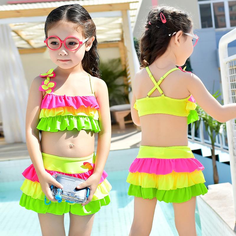 海波特新款儿童泳衣 时尚可爱女童比基尼裙式泳衣 C1003