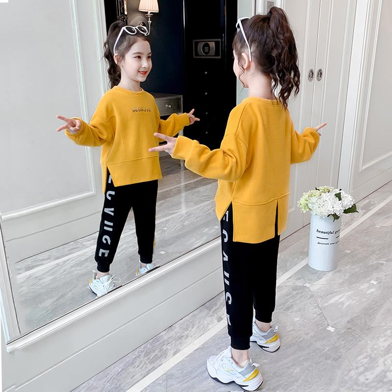 儿童装女童秋装套装2020年新款秋季大女孩网红洋气时髦运动春秋款
