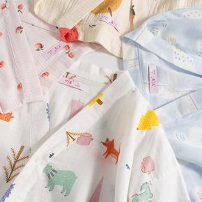 梦蜜夏季纯棉薄款孕妇睡裙产妇月子服产后喂奶连衣裙纱布哺乳睡衣