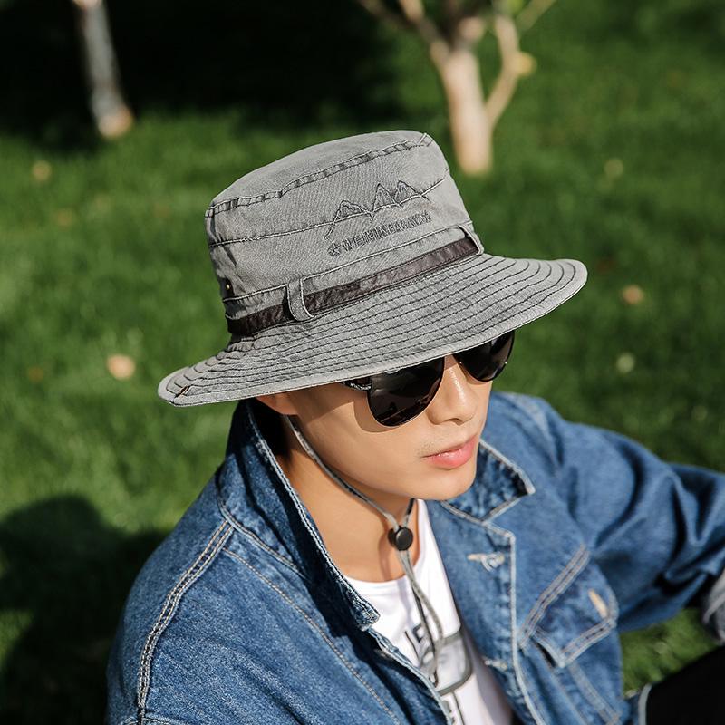 夏天户外帽子旅游休闲登山遮阳帽百搭渔夫帽男钓鱼防晒透气太阳帽限20000张券
