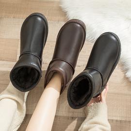 女鞋2020新款时尚冬季雪地靴女短筒面包鞋加厚棉鞋女冬加绒靴子秋图片