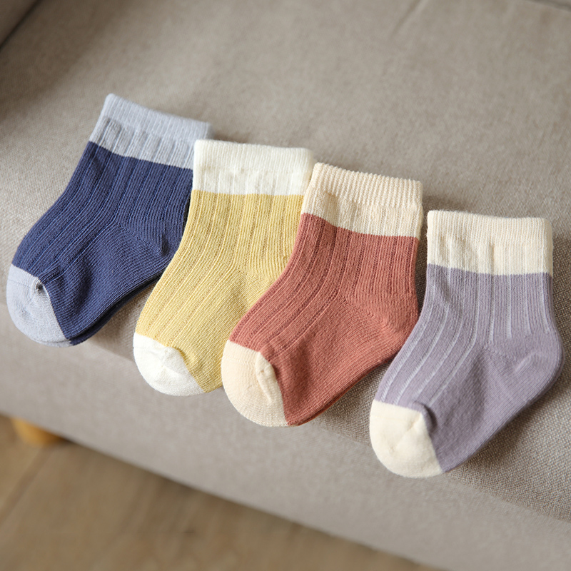 Wedding Baby Socks spring and autumn pure cotton newborn middle tube socks boys and girls loose mouth boneless Baby Socks 6 pairs