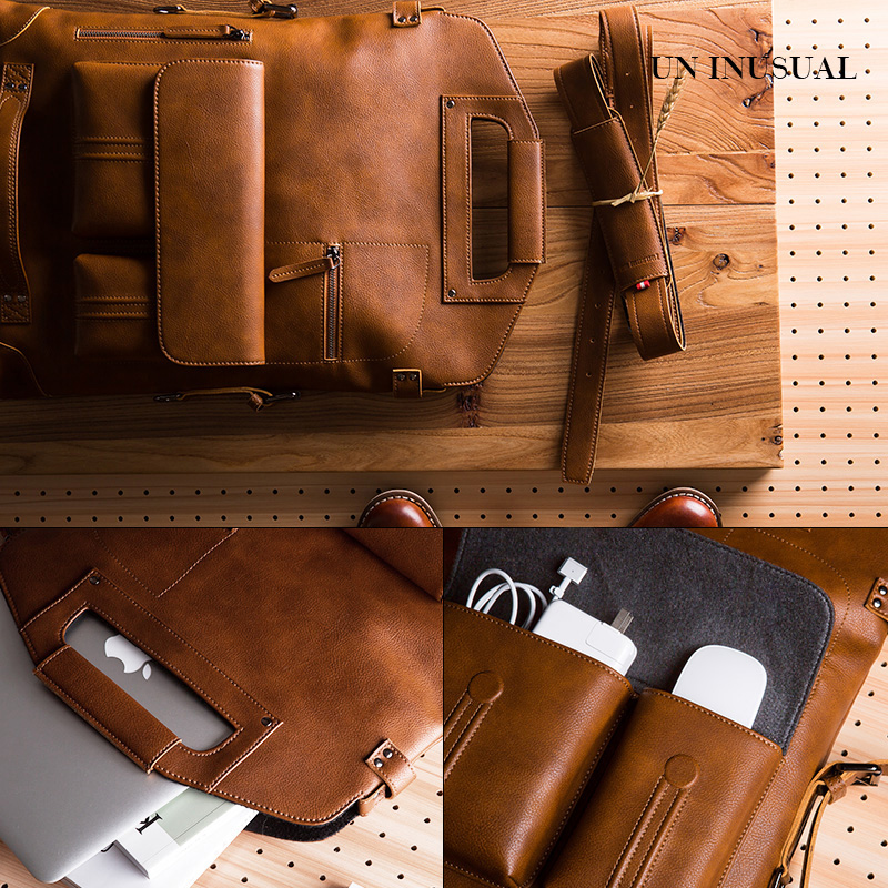 New backpack mens backpack business travel personalized leather bag fashion trend retro creative leisure computer bag