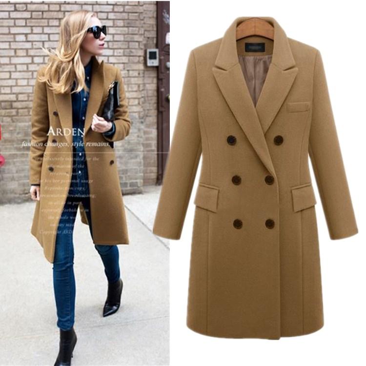 2019 autumn women jackets winter warm coats ladies wool coat