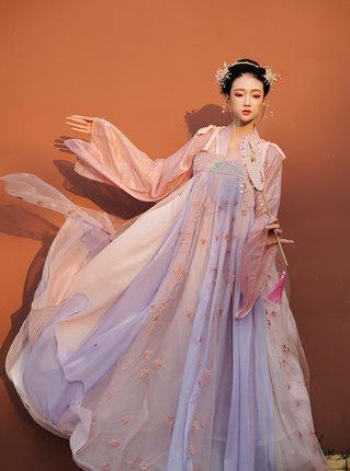 陛下兰他惜原创汉服新品齐胸襦裙大摆仙女大袖衫日常汉元素连衣裙