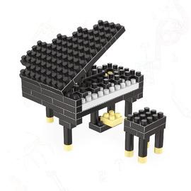 迷你小积木拼装玩具6岁男孩女孩小颗粒益智拼插钢琴摆件水果动物