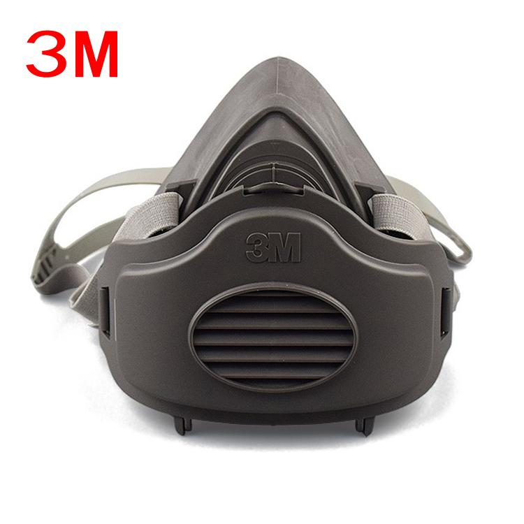 3M 防尘口罩面罩打磨水泥煤矿装修防尘口罩粉尘工业3200防护面具