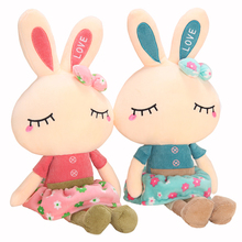 Cute Rabbit plush toy girl white rabbit doll child pillow birthday gift doll puppy girl Meng