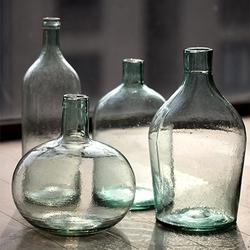 掬涵 玻璃花瓶落地台面艺术玻璃器皿软装饰美式粗放手工