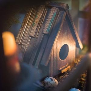 掬涵 木头鸟窝 鸟屋 鸟巢 装饰摆件 杂货花园阳台装饰庭院摆件
