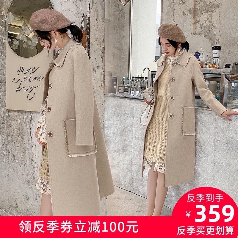 修身双面羊绒大衣女中长款2020秋冬新款复古显瘦高端羊毛呢子外套