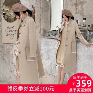 修身双面羊绒大衣女中长款2020秋冬新款复古显瘦高端羊毛呢子外套价格