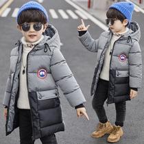 男童中长款棉衣2019新款儿童冬装男孩羽绒棉服中大童加厚棉袄外套