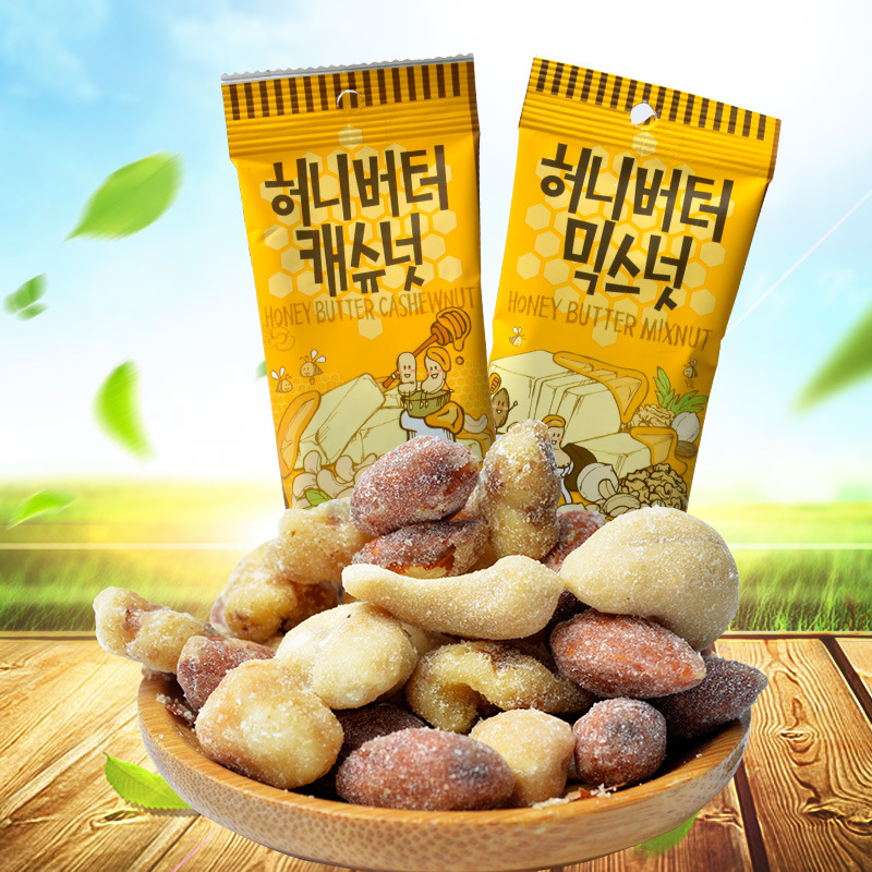 Gilim honey butter mixed with nuts, almonds, cashew nuts 30g snack food imported from Korea