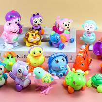儿童发条玩具婴儿章鱼塑料青蛙小鸡0-1岁宝宝上链小汽车动物铁皮