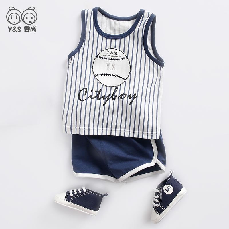 男童运动套装男宝宝夏装背心夏季潮1一3岁2洋气5幼儿童装婴儿衣服 - 封面