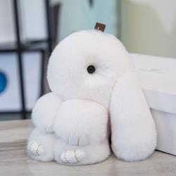长耳兔玩偶迷你小兔子毛绒玩具垂耳兔长毛兔公仔可爱兔兔书包挂件