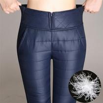 高品质加厚羽绒棉裤冬季女装高腰保暖裤外穿显瘦小脚加大码棉裤
