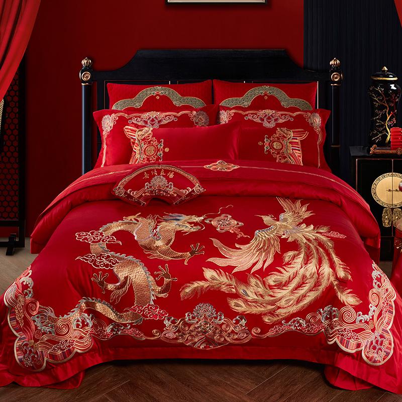 100s支全棉婚庆四件套大红色喜被子质量如何?