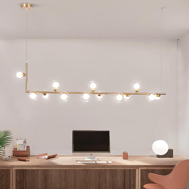 吊灯长条灯创意餐桌灯极简店铺吧台网红灯饰led北欧餐厅吊灯现代简约