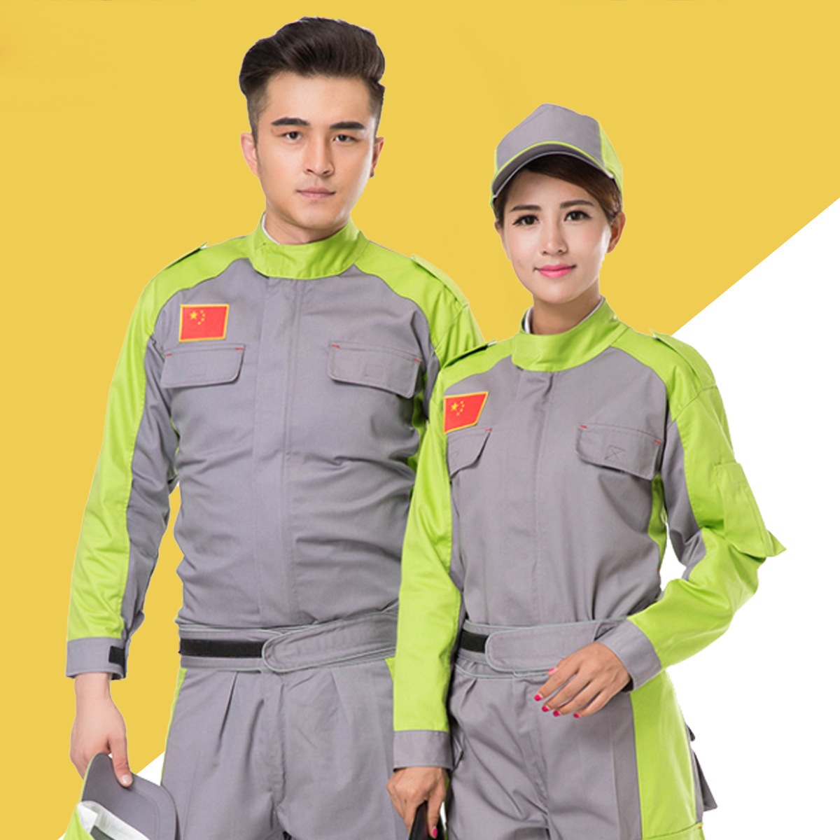 Autumn and winter driving school uniform factory workshop staff clothes Porter electrician welder clothing machinery