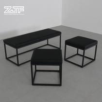 Craftsman Square ZJF Garment shop trial Shoe stool rectangular change shoe stool locker room fitting room rest stool new D3