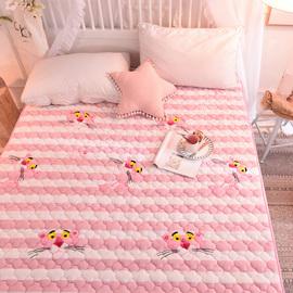 法兰绒毛毯床单单件卡通粉色女夹棉加厚儿童纯色宿舍双人冬季保暖