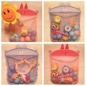 宝宝洗澡玩具小鸭子浴室戏水收纳袋