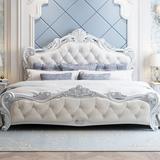 欧式床 主卧现代简约双人床实木床婚床1.8米公主床 家具套装组合