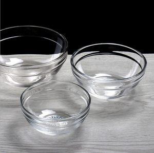 沙拉小玻璃碗透明学生美容院用调精油碗 调面膜碗 布丁碗钵仔糕碗