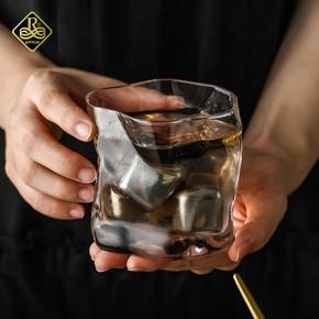 日本威士忌酒杯古典水晶洋酒杯日式创意个性啤酒玻璃杯子鸡尾酒杯