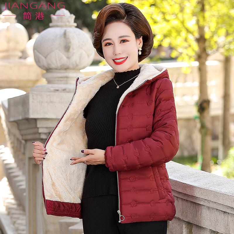 2019新款妈妈棉衣秋冬装羽绒棉服中年女装加绒外套中老年棉袄