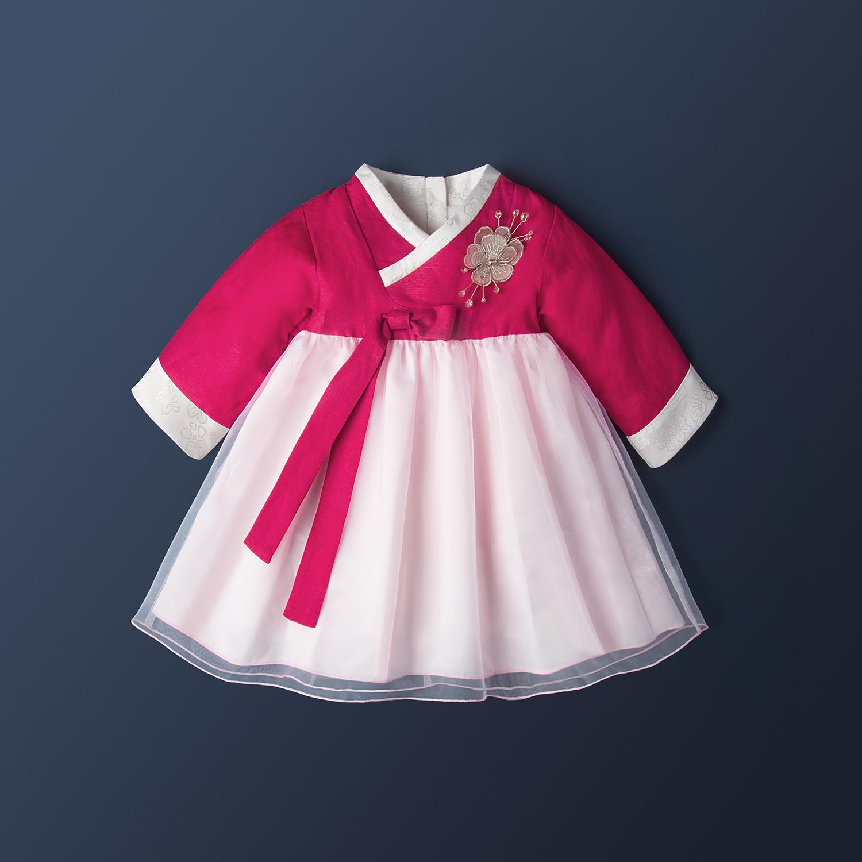 汉服女童春秋款婴儿礼服宝宝一周岁衣服超仙连衣裙唐装中国风古装