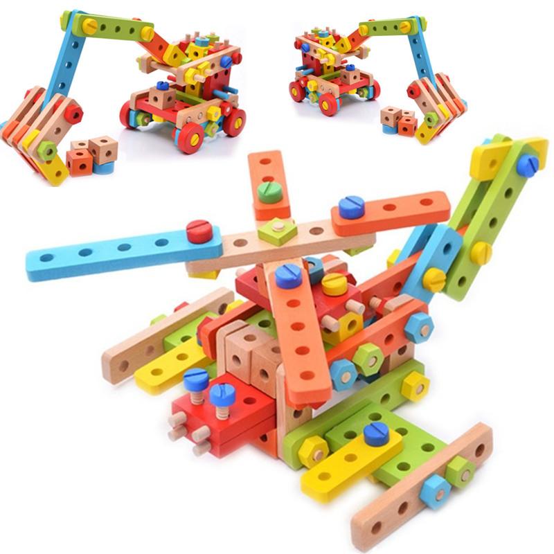 Бесплатная доставка счастливый дерево сад 138 зерна играть строительные блоки система гайка съемный наряд игрушка разнообразие собранный винт автомобилей тип сочетание