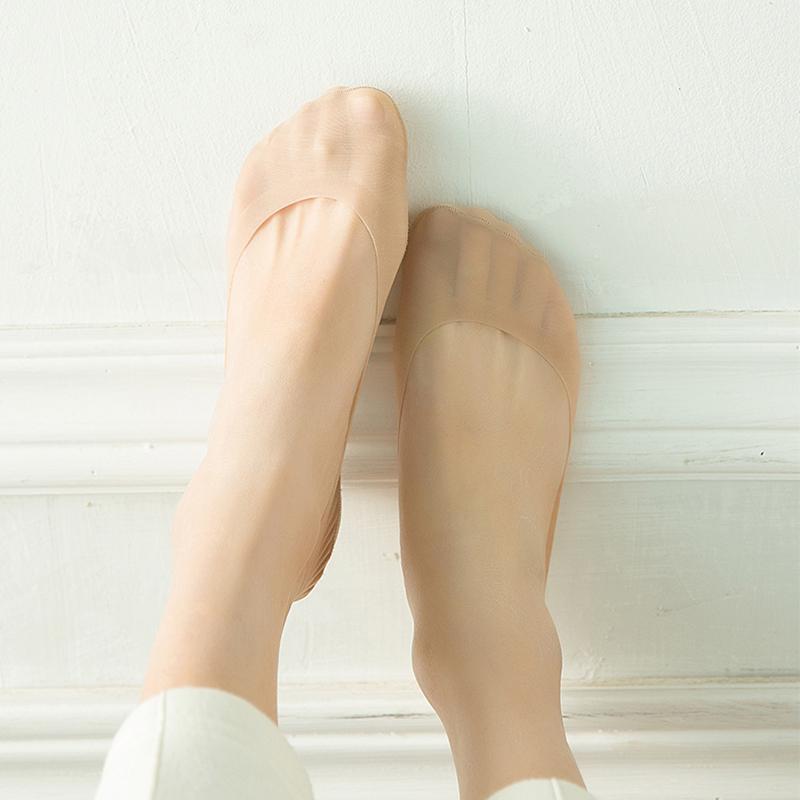 4双装大码冰丝硅胶防滑隐形袜套(用15.5元券)