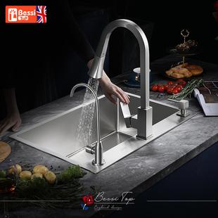 英国贝施德304不锈钢洗菜盆单槽 厨房水槽加厚洗碗槽水池洗菜池图片