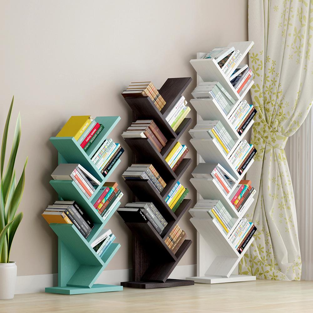 树形书架简约现代客厅简易落地书架置物架个性卧室儿童书架经济型
