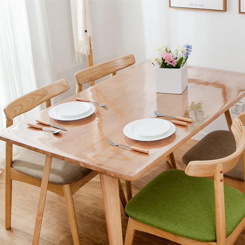 PVC透明餐桌垫软玻璃桌布防水防烫防油免洗长方形隔热垫耐热家用,可领取3元天猫优惠券