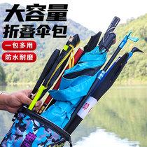 特价120cm80cm黑红色简易单层渔具包鱼竿包鑫品胜