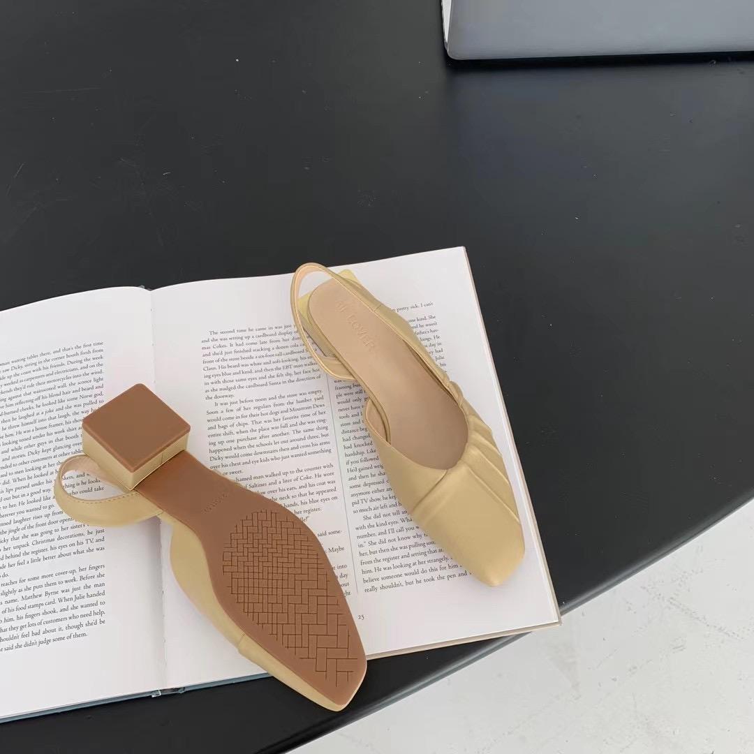 中跟单鞋2021年春夏新款法式高跟鞋