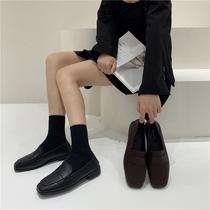 SS03112317秋季新款一脚蹬乐福鞋平底舒适通勤女鞋单鞋2020星期六